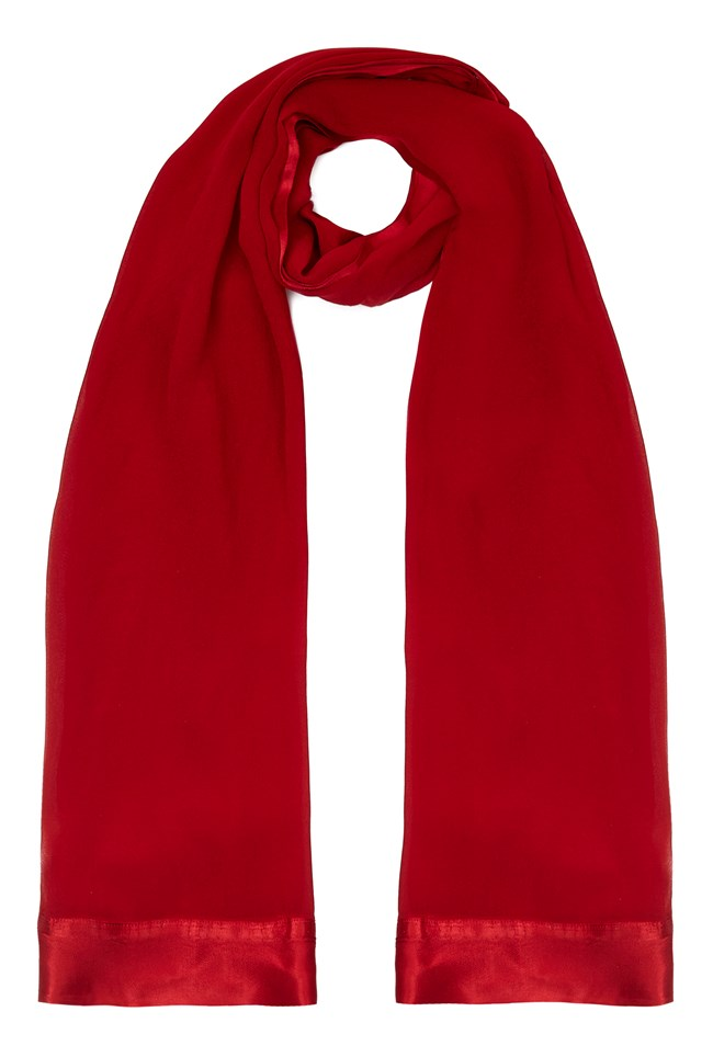 Zara Shawl Chilli Red