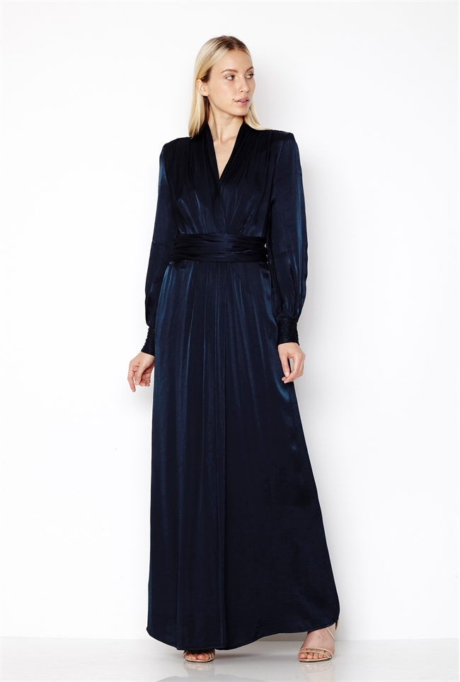 1940s Evening, Prom, Party, Formal, Ball Gowns Becky Dress Navy £345.00 AT vintagedancer.com