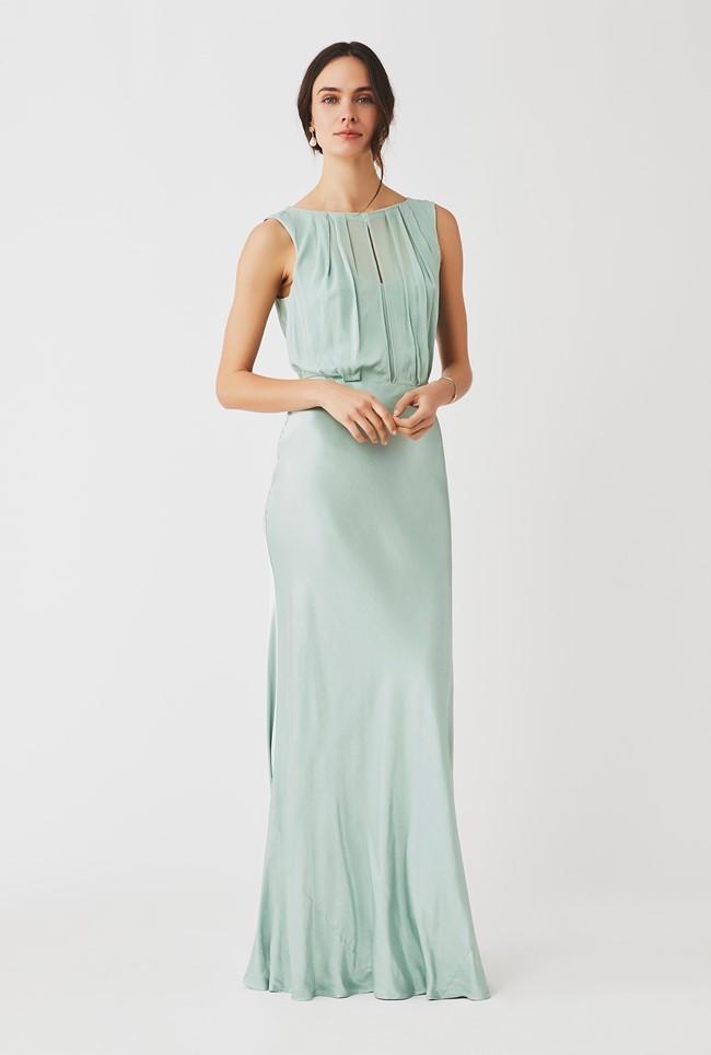 Claudia Dress Dusty Green