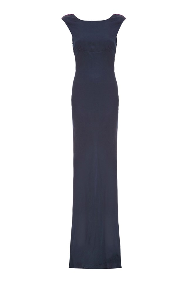 1930s Dresses, Shoes, Clothing in the UK Salma Dress Navy £225.00 AT vintagedancer.com