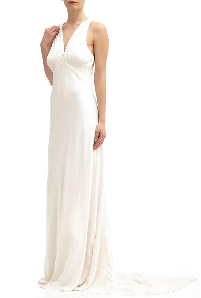 Lilly Wedding Dress Chalk White