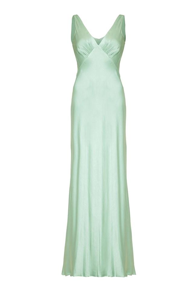Pearl Dress Dusty Green