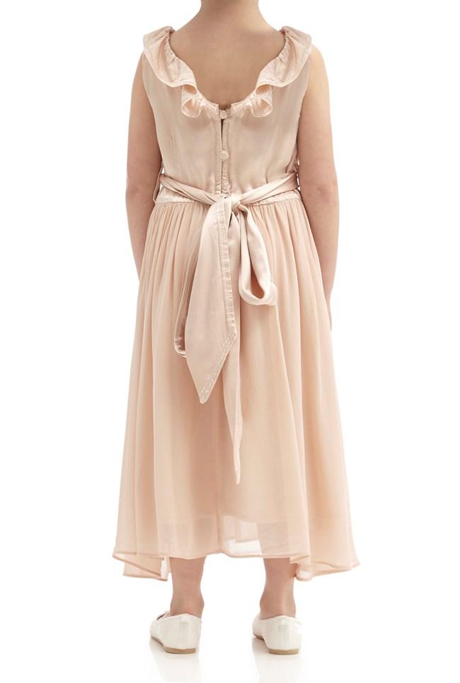 Freya Flower Girl Dress - Oyster