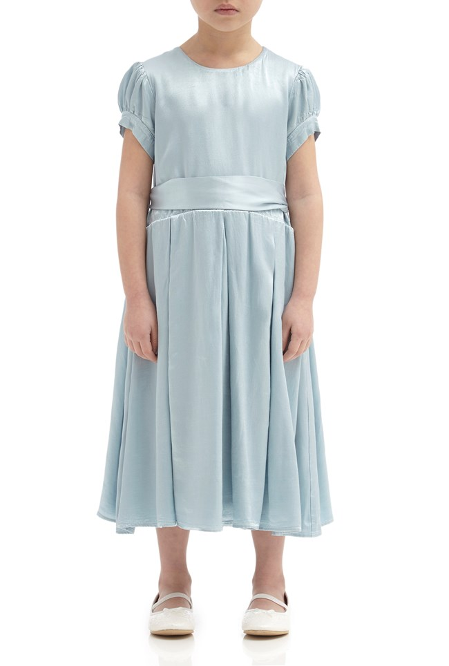 Mia Flower Girl Dress - Sky Light