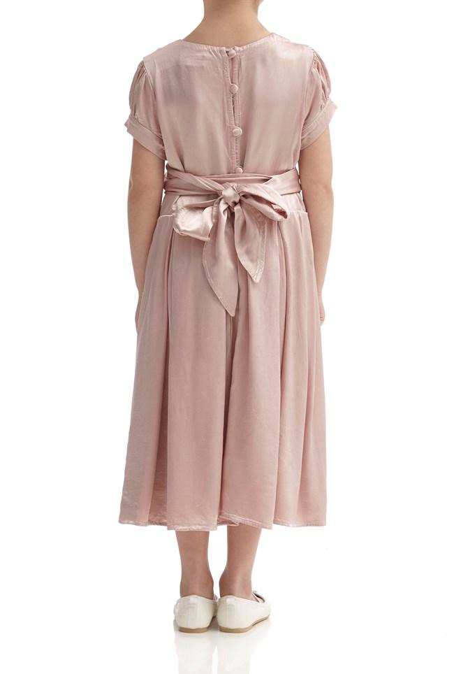 Mia Flower Girl Dress - Boudoir Pink