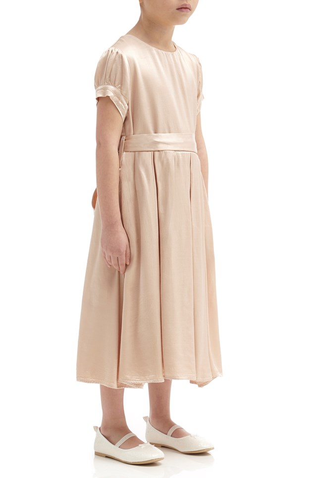 Mia Flower Girl Dress - Oyster