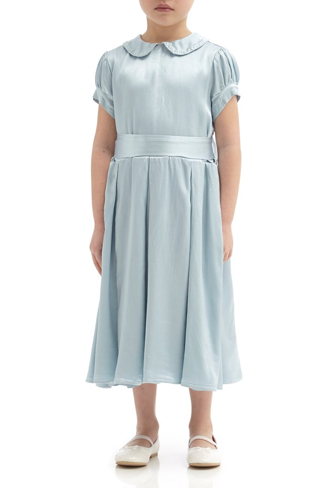 Florence Flower Girl Dress - Sky Light